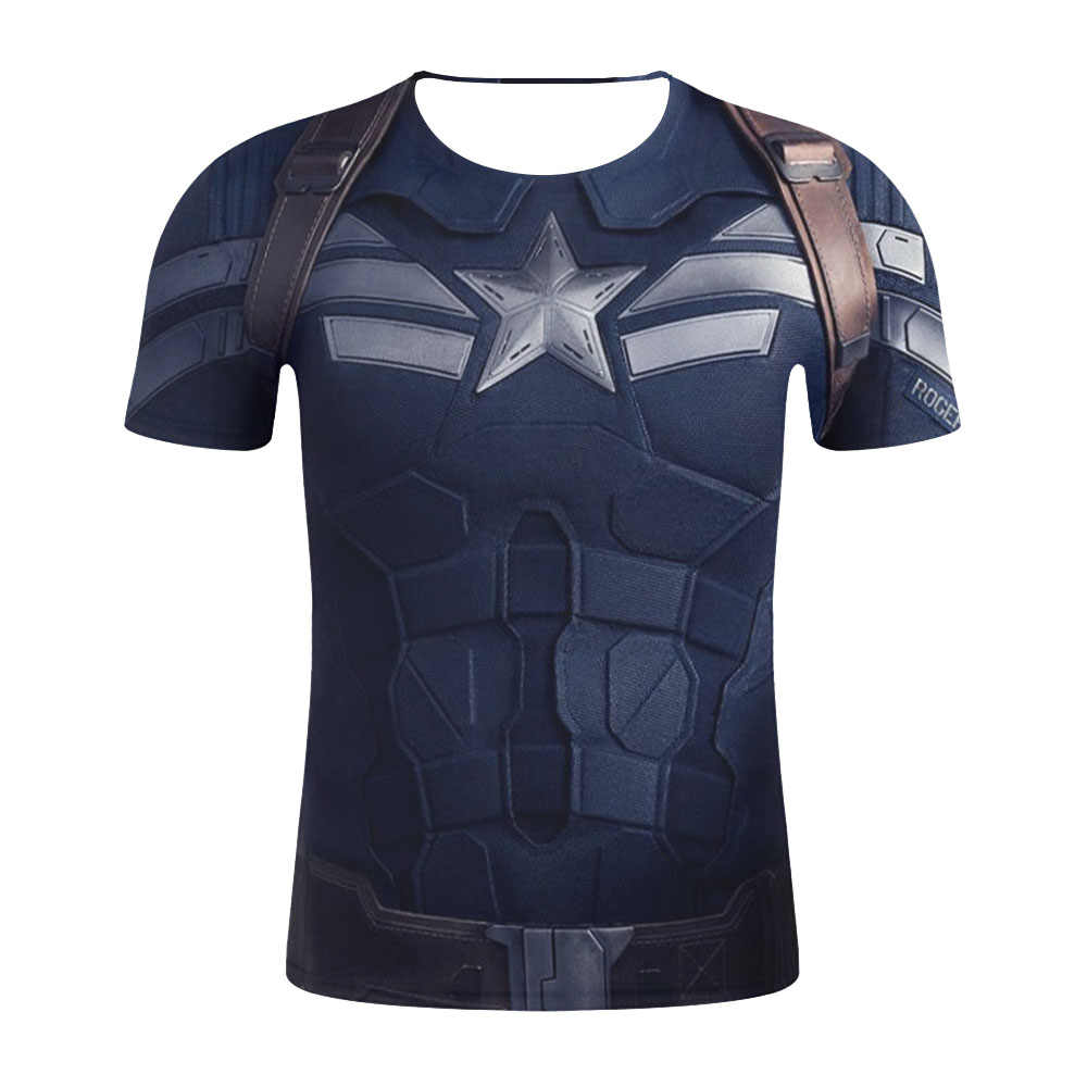 Di modo T-Shirt Da Uomo di Compressione Superman/Batman/Spider Man/Captain 3D Camicette In America/Hulk/Iron Man /t-shirt Da Uomo Fitness