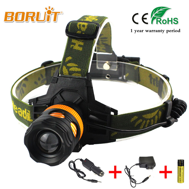 BORUIT XML T6 LED 2200Lm Zoomable Flashlight Headlight Adjust Focus Cycling Bicycle Light 3 Modes AAA/18650 Lantern(Not Battery) sitemap 49 xml