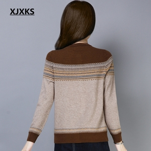 Image 2 - XJXKS New Spring Sweaters New 2019 Female Knit Cardigan Sweater Coat Knitted Jacket Comfortable Soft Jumper Women Sweater