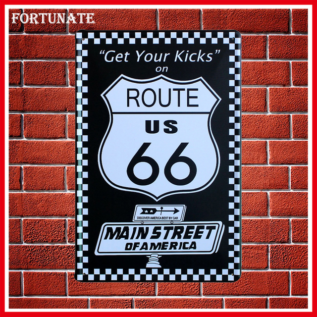 Aliexpress.Com : Buy Hot Get Your Kicks On 66 Route Metal Signs