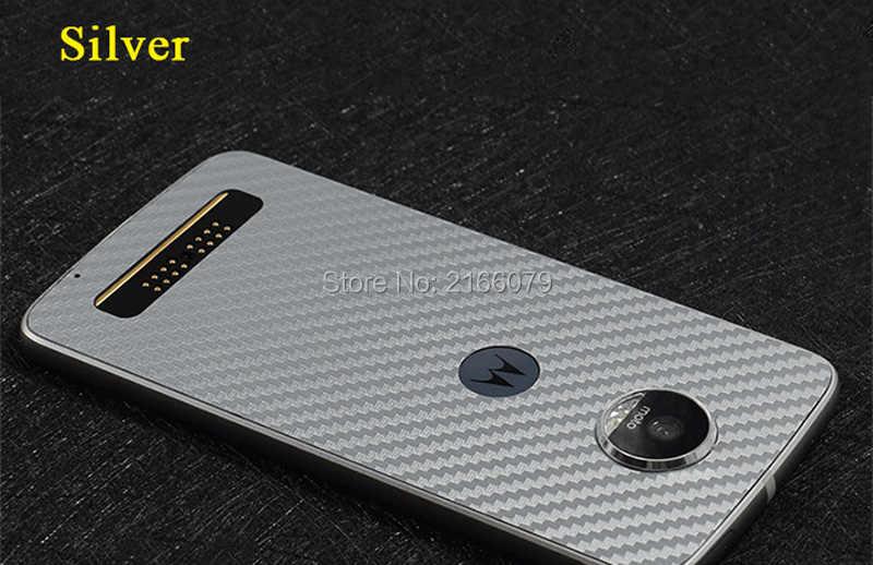 Для Motorola Moto Z/Moto Z Play Droid Новая полная задняя наклейка для кожи 3D из углеродного волокна защитная пленка для телефона