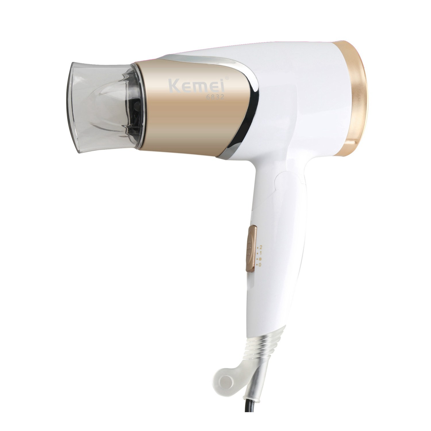 Kemei KM-6832 High Quality EU Plug 220 Voltage 1800W Mini Portable Hair Dryer for Home TravelKemei KM-6832 High Quality EU Plug 220 Voltage 1800W Mini Portable Hair Dryer for Home Travel