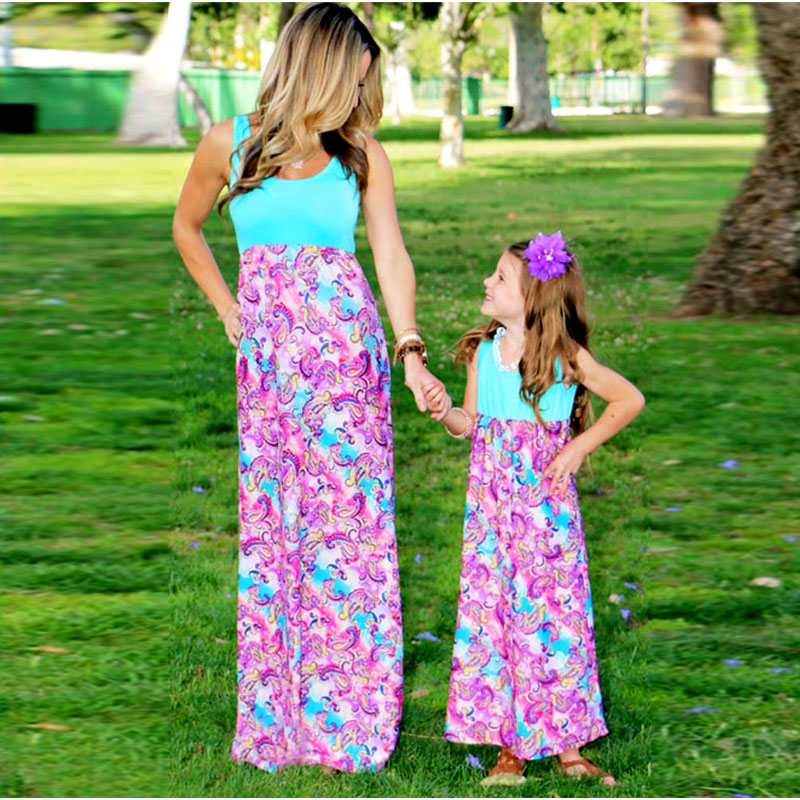 Aliexpress Buy Mother daughter dresses Patchwork