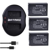 Batmax 3Pcs LP E17 LP E17 E17 Battery Bateria+USB Dual Charger for Canon EOS Rebel T6i 750D 800D 200D 8000D Kiss X8i Cameras