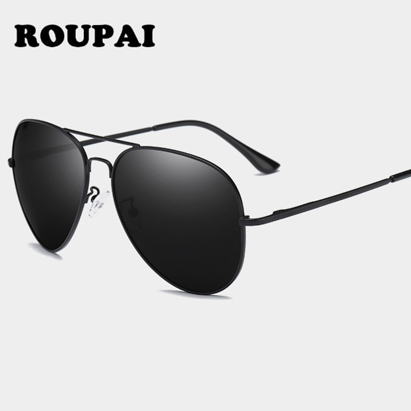 ROUPAI Mens Sunglasses Polarized Aviator High Quality Vintage Classic Ladies Sun Glases Pilot Women Glasses Summer Shade Gozluk ...