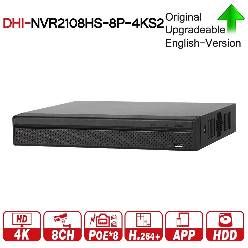 DH Original NVR2108HS-8P-4KS2 8 Kompakte 1U 8PoE Lite 4 karat H.265 Netzwerk Video Recorder NVR 8MP Rekord Für IP Kamera CCTV System