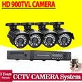 8ch 4 canales cctv DVR 1080 p 4ch AHD 1080 P 720 P 960 H dvr 4 unids 900tvl IR de interior al aire libre sistema de cámaras de seguridad cctv dvr kit HDMI