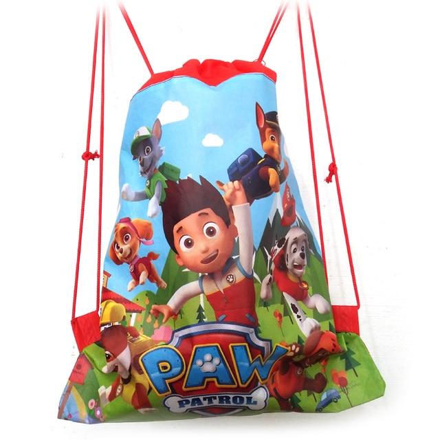2017 миньон рюкзак школа нетканые строка чистка сумка для мальчиков и девочек дети подарки ко дню рождения все матч