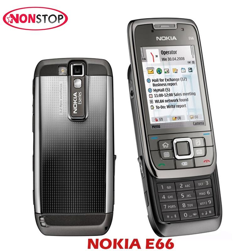 Original Nokia E66 Single Core Slide Cell Phone 3G Bluetooth Mp3 Player 3.15MP Mobile Phone Refurbished Symbian NOKIA E66 Phones