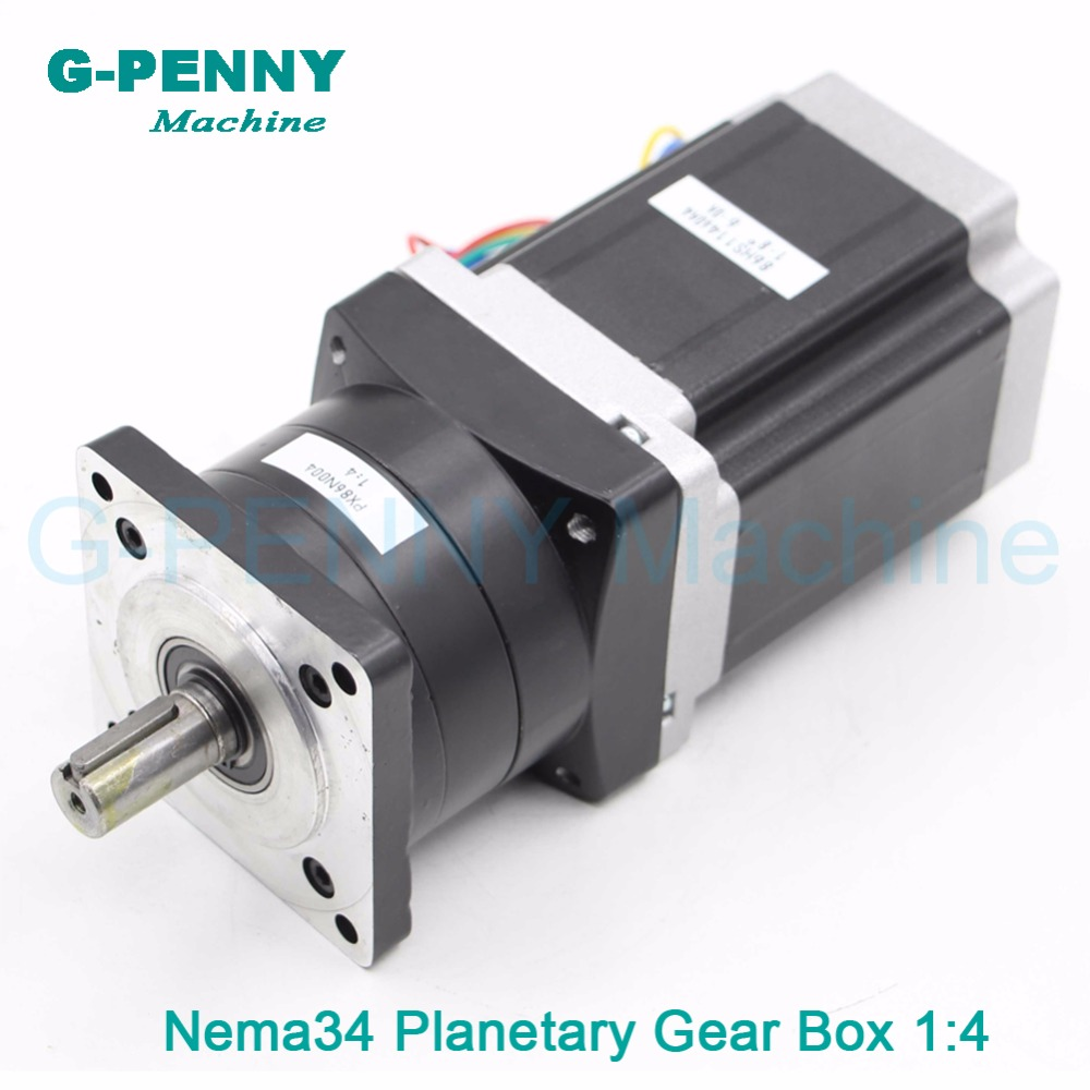 цена Nema34 stepper Motor Planetary Reduction Ratio 4:1 with nema34 motor 86x114 6A planet gearbox 86 motor speed reducer High Torque
