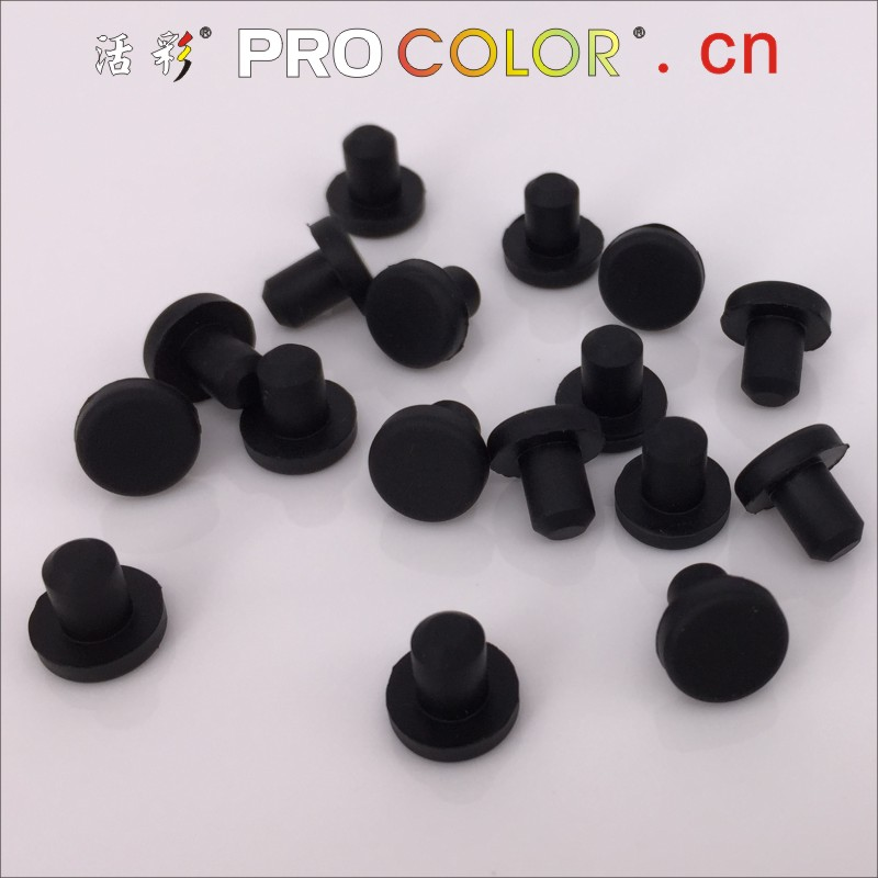 1000pcs 7.5mm Gray Silicone Rubber Snap-on Grommet Hole Plugs Cable Protect Bush