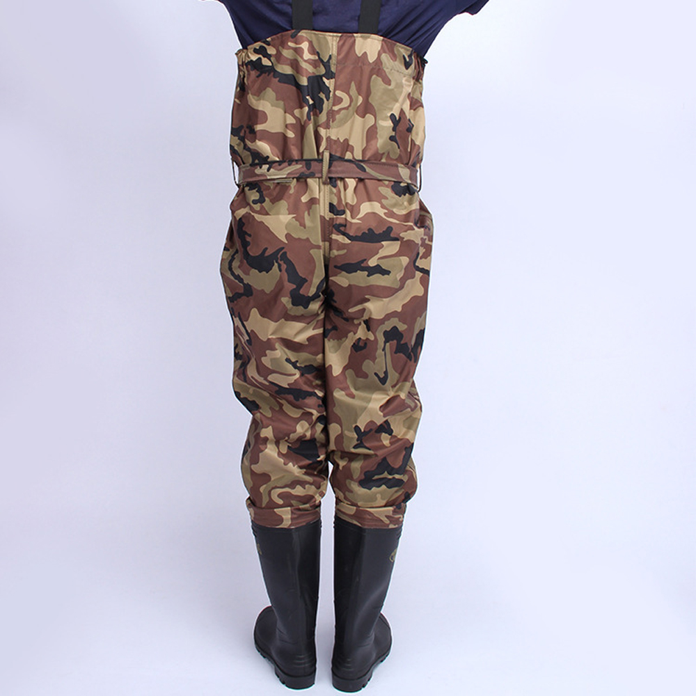 Waterproof Thick Nylon Camouflage Siamese Fishing Boots Pants Outdoor Angling Hunting Breathable Wader Overall Jumpsuit Trousers