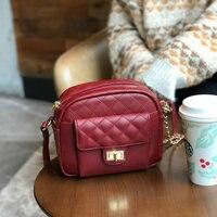 Известный бренд Crossbody сумки с ромбовидной строчкой для женщин сумка дизайнер сумки Высокое качество цепи дамы курьерские Сумки