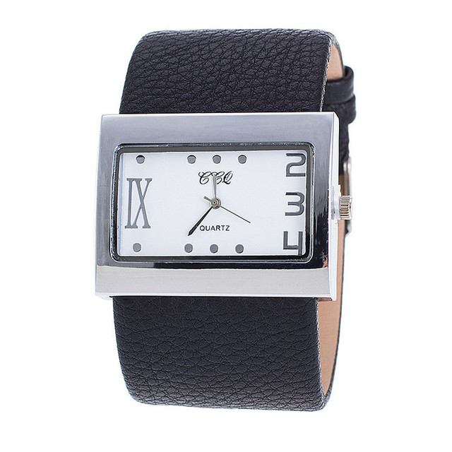 CCQ Luxury Brand Leather Watch Men Women Wristwatch Ladies Dress Quartz Watch Lu