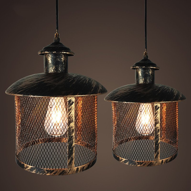 цена Modern Pendant Light Black Iron Hanging Cage Vintage Led Lamp Bulb E27 Industrial Loft Retro Dining Room Restaurant Bar Counter