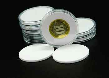 20pcs/set Commemorative Coin Acrylic Round Boxes Coin Collection Protect Box 100Set