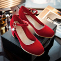 2016 new sumwerr fashion classic solid sweety elgant women pumps med heel shoes comfortable and breathess women shoes 1ss