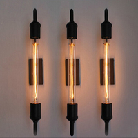 Vintage Retro Wall Lamp Pipe Black Sconces Steam Bathroom Antique Vanity Lights Night Light Lighting Fixtures Lamps For Bedroom
