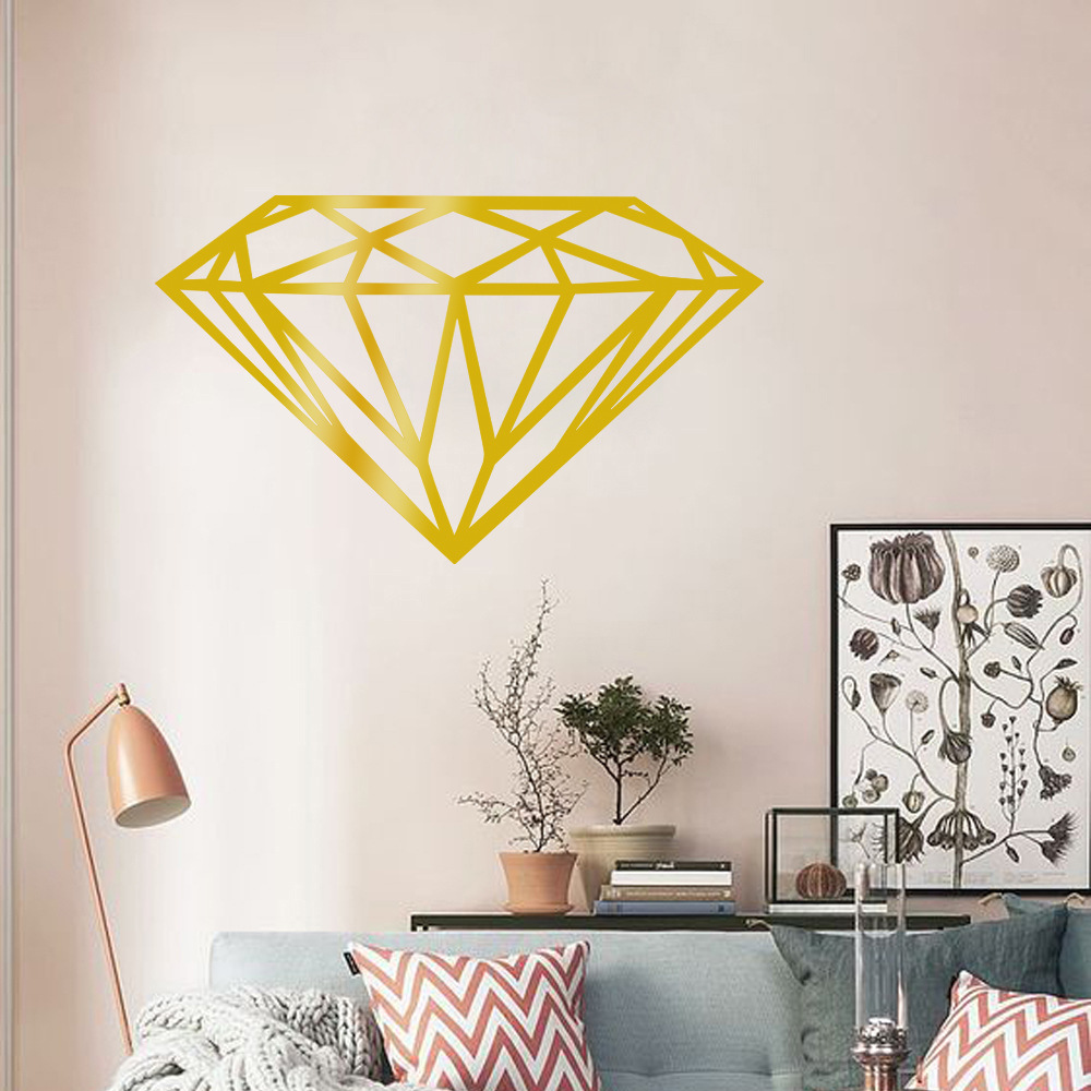 OS1566 Diamond Pattern Vinyl Wall Decal Home Decor Party Decor Nursery Wall Decals Wall Stickers For  sc 1 st  AliExpress.com & New Design Diamond Vinyl Wall Sticker Kids Rooms Home Decor Gemstone ...