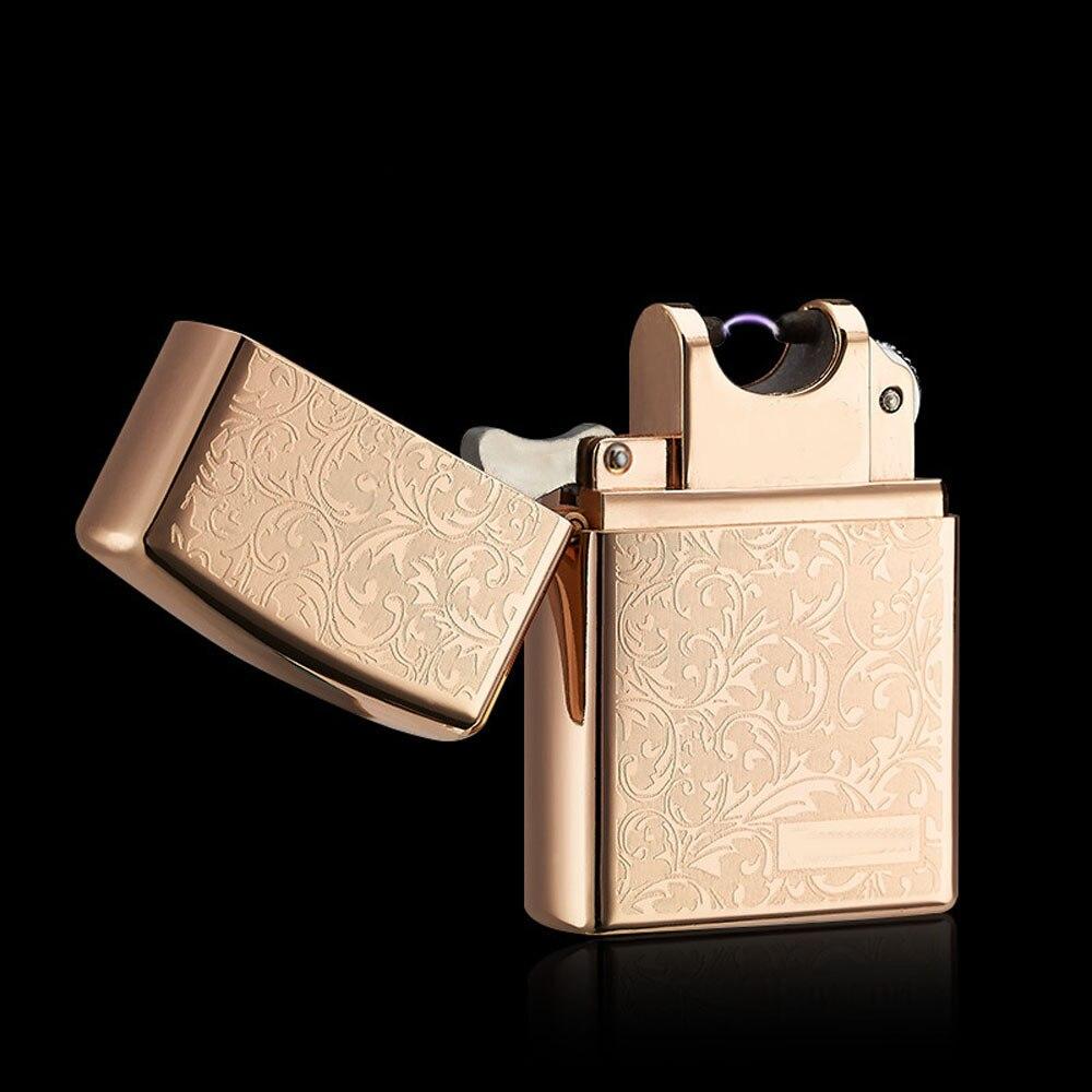 Métal coupe-vent allume-cigare électrique Plasma Pulse USB chargeur cigare allume-cigare électrique Arc briquet pour homme cadeau