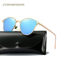 2017 Hot polarized sunglasses women brand designer metal cat eye sun glasses driver Eyewear uv400 Goggles