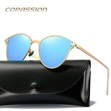 2017 Quentes óculos polarizados óculos de sol das mulheres designer de marca de metal cat eye óculos de sol Óculos de motorista uv400 Óculos de sol oculos de sol feminino