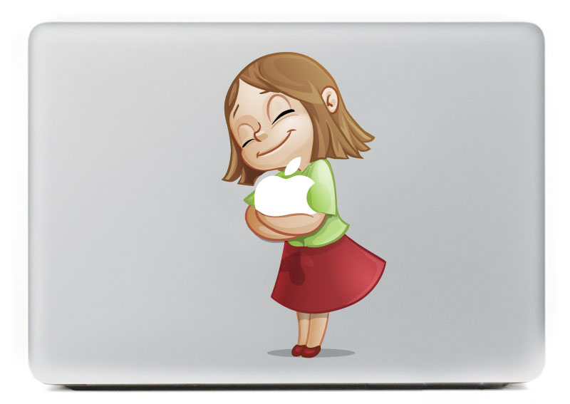 Hugging little girl vinyl decal for new macbook pro 13 15 inch and air 11 13 inch decal skin laptop sticker in laptop skins from computer office on