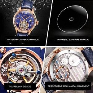 Image 4 - Часы мужские, высококлассные, с застежкой, Tourbillon, многофункциональные, механические, 7001