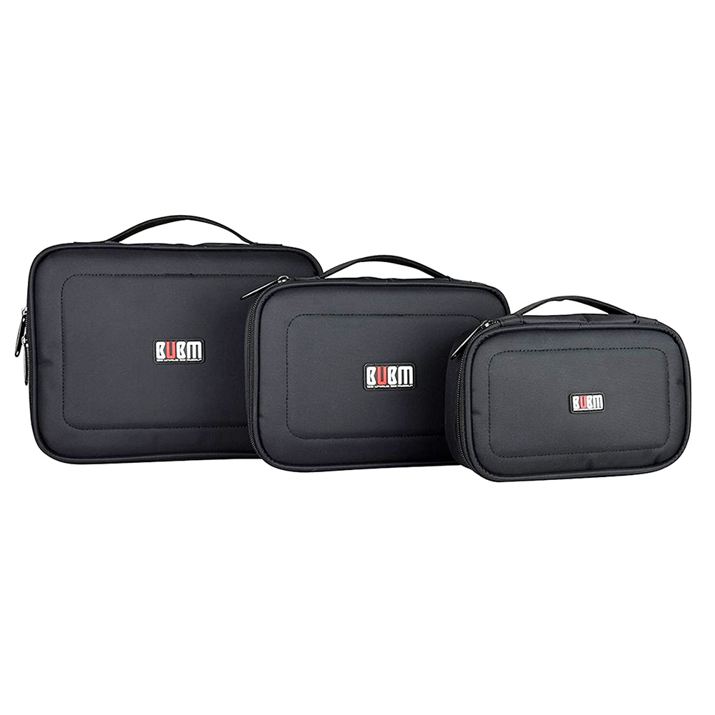 BUBM Accessories Storage Carry Bag Cable Case Travel Organiser 3 Sizes bubm professional dj bag for pioneer