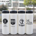 VILEAD Plastic Fashion Cheap EXO Water Bottle 500ml Creative Sport Lemon Juice Space Cup Drinking Bottle Summer Water Bottle