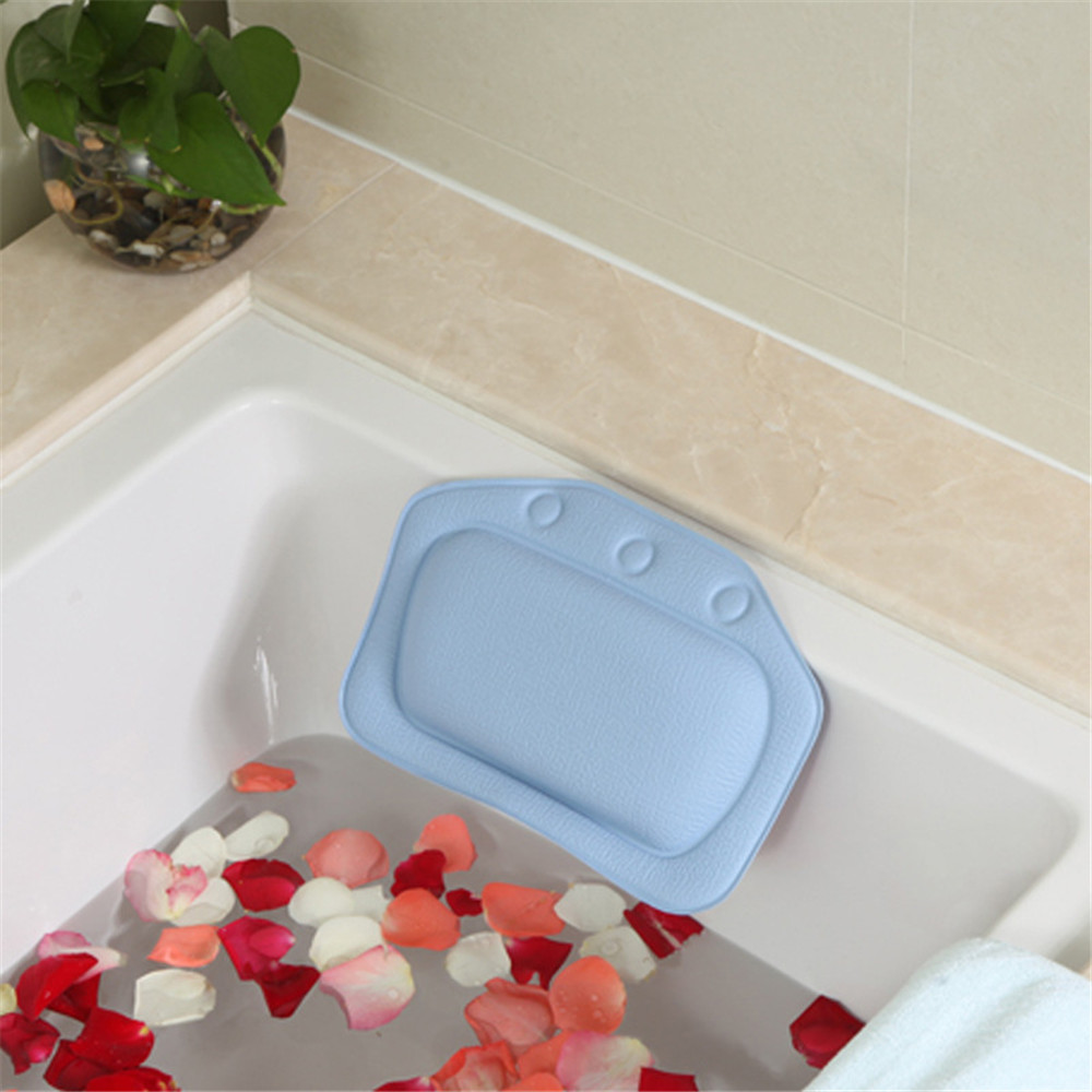 Bath Spa Fixed Bathtub Pillow Comfortable Relax Sucker PVC With ...