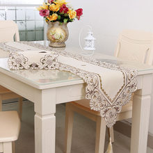 Fashion Waterproof Table Cloth Hollow Embroidered Pattern Pastoral Style Home Hotel Elegant Decorative Cover Table Linen Runner(China)