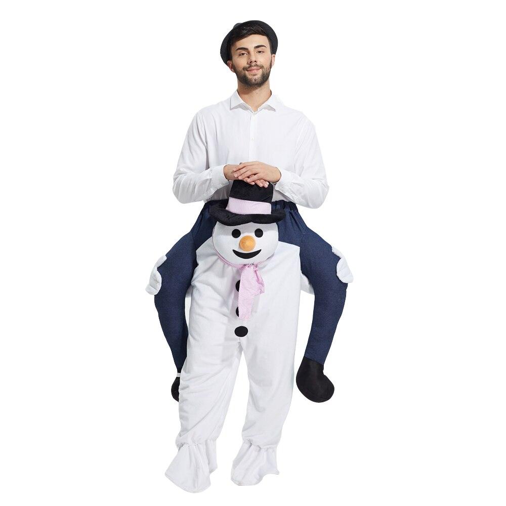 Ride On Me Piggy Back Ride On Novelty Snowman Mascot Fancy Dress Costume Christmas