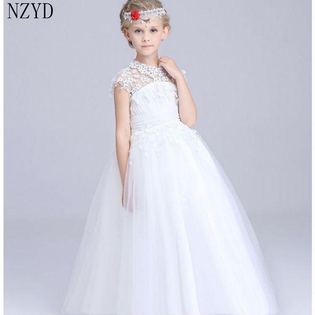Neue Mode Frühling Sommer Herbst Mädchen Kleid Kinder Spitze Weißen ...