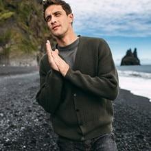 الخريف الرجال سترة القطن الصلبة سترة جيب للرجل عادية سليم صالح الملابس 2020 جديد الذكور ارتداء محبوك معطف 11913
