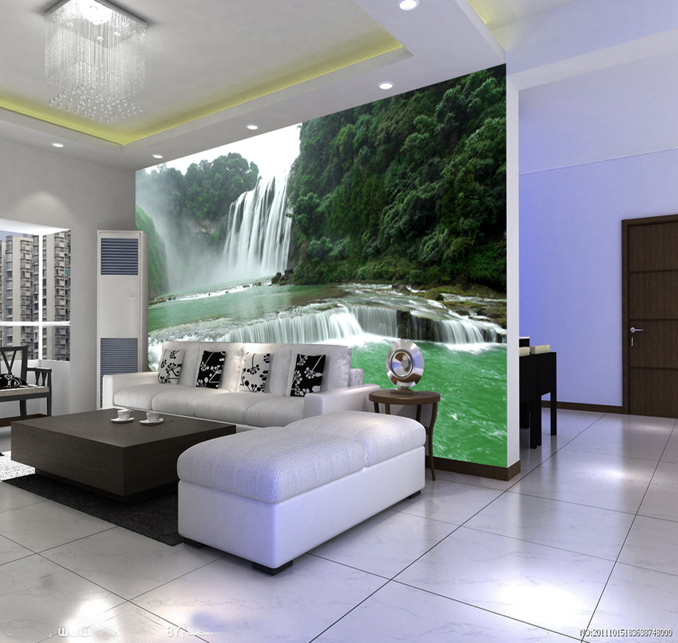 popular landscape murals buy cheap landscape murals lots from new landscape waterfall 3d photo wallpaper landscape murals living room sofa tv background wall mural wall