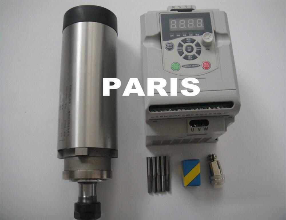 CNC spindle kit ER 20 2.2KW air cooling spindle motor 4 bearing+2.2KW VFD inverter+cnc engraving bits cnc spindle kit er11 air cooling 1 5kw spindle cnc engraving bits