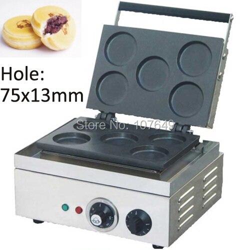 Hot Sale 110v 220V Commercial Use Electric 5pcs Red Bean Waffle Baker hot sale 32pcs gas bean waffle maker