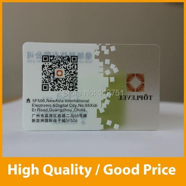 Custom transparent plastic business cards with white ink printing in custom transparent plastic business cards with white ink printing reheart Images