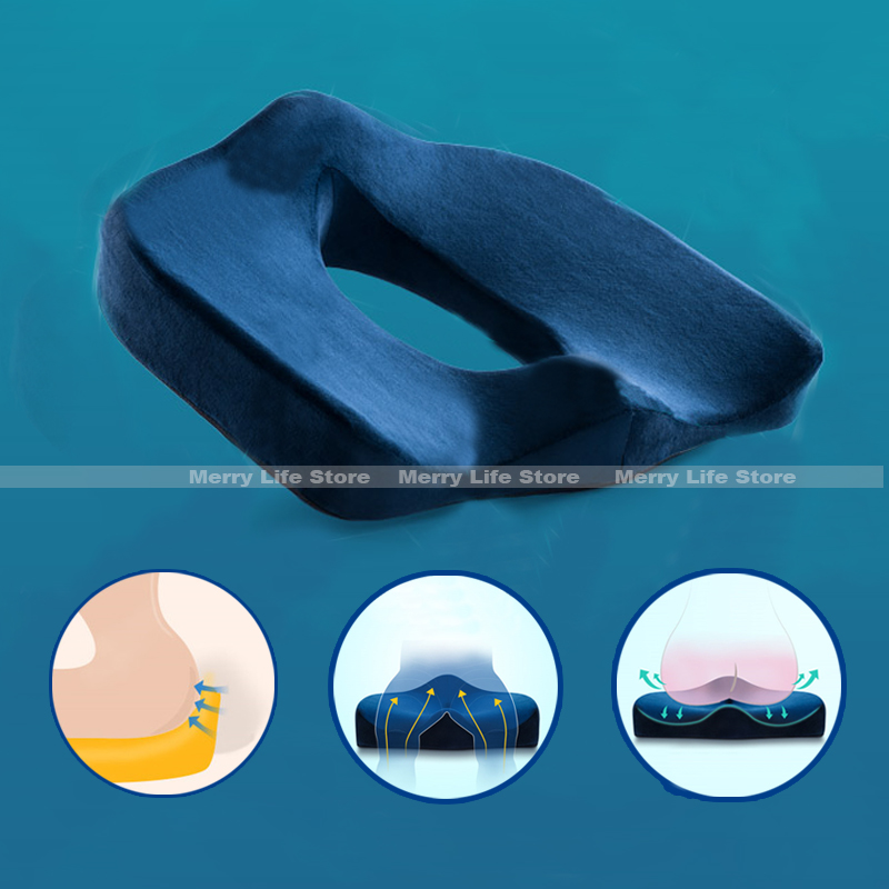 Seat Cushion Chair Donut-Hemorrhoid-Pillow Memory-Foam Tailbone Coccyx Orthopedic