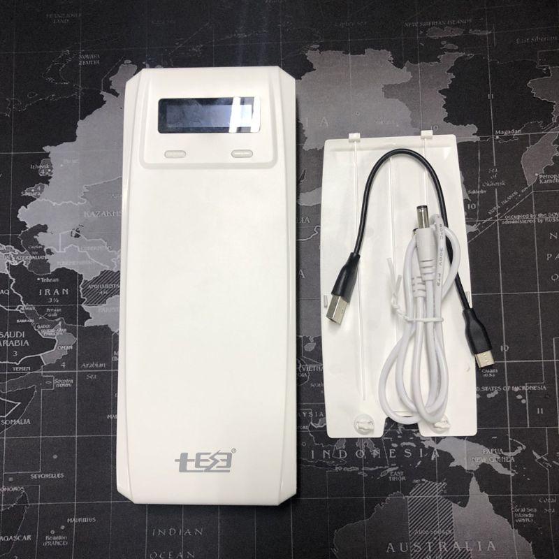 QD188-PD double USB QC 3.0 + Type C PD DC sortie 8x18650 batterie batterie externe support de la boîte boîtier chargeur rapide pour téléphone tablette ordinateur portable