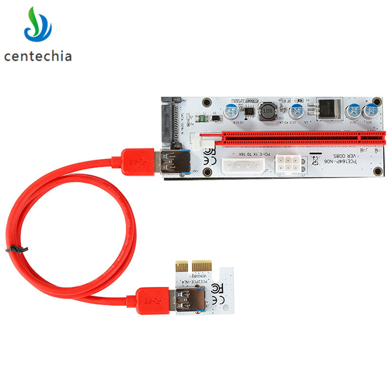 008 PCI-E Express 1x to 16x Extender Riser Card USB3.0 Extender Cable For Miner Machine PCI-E SATA 4PIN 6PIN 15PIN SATA Adapter кабель orient c391 pci express video 2x4pin 6pin