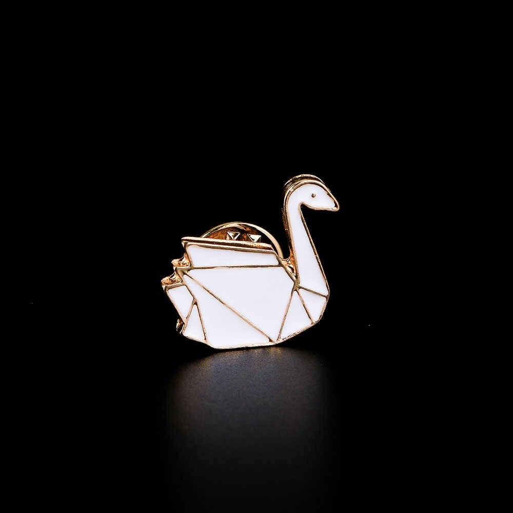Carino Origami Coniglio Cavallo Volpe Cigno Iceberg Splicing Animale Smalto Spille Spilli Distintivo Hijab Spille Per Le Donne Ragazze Bambini