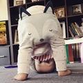Прекрасный Малышей Детские Мальчиков Брюки 3D Печати Fox Брюки Хлопок Шаровары Брюки Моды Детская Одежда
