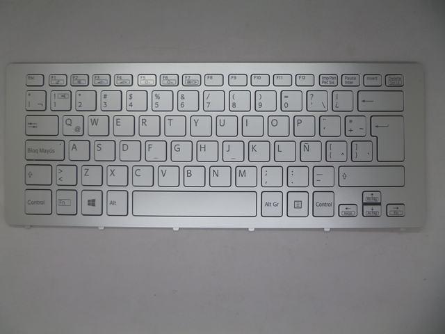 Laptop Keyboard for SONY SVF15N17CBS BR Brazillian Silver with Frame laptop keyboard for acer silver without frame bulgaria bu v 121646ck2 bg aezqs100110