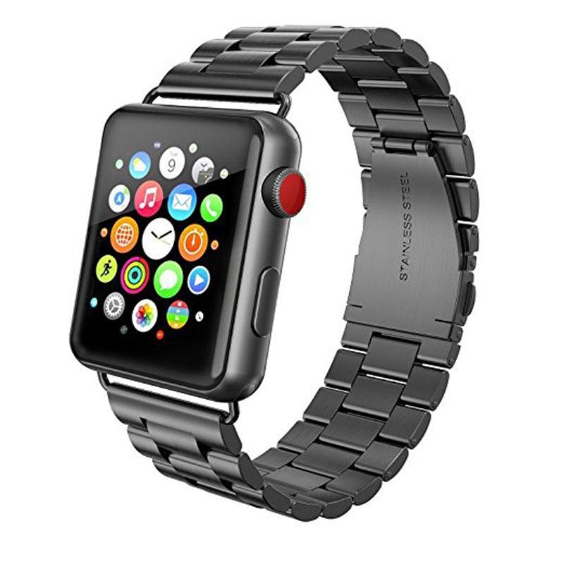 Correia de aço inoxidável de três links para Apple Watch Band com - Acessórios para relógios - Foto 3