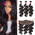 Real Beauty Brazilian Body Wave With Frontal Closure Ear To Ear Lace Frontal Closure With Bundle Human Hair Bundles Lace Frontal