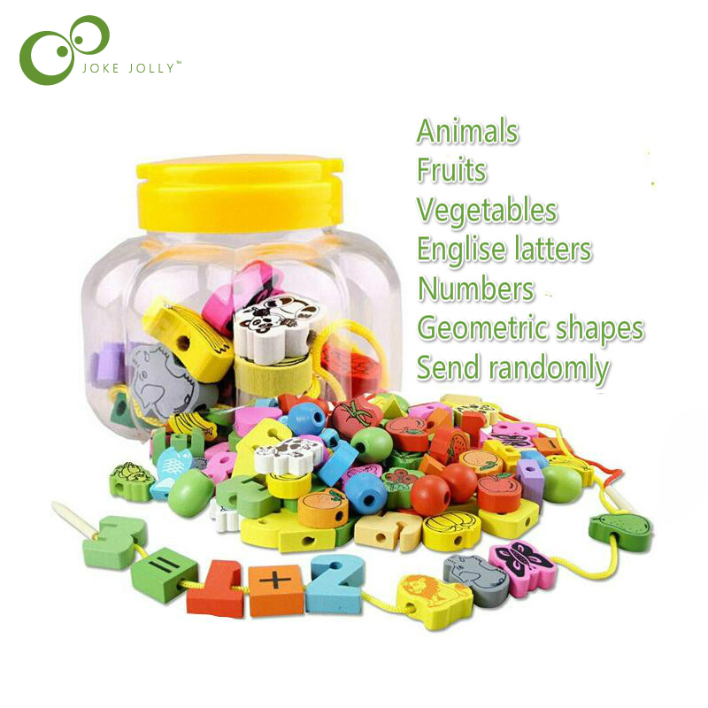 Sparsam 18/26 Stücke Holz Tier Obst Block Bespannen Perlen Spielzeug Für Kinder Lernen & Bildung Bunte Produkte Kinder Spielzeug Wyq