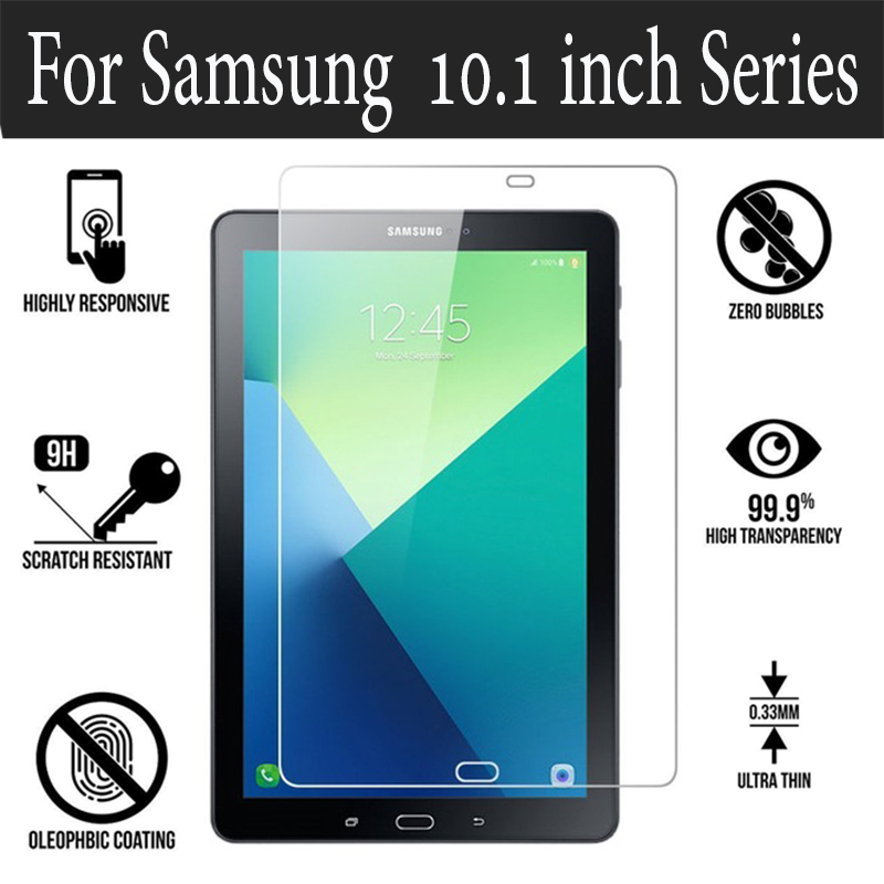 hd protective glass for samsung galaxy tab a 10.1inch t580 t585 film tempered glas galaxy tab a6 2016 tablet screen protector 9h 9h tempered glass screen protector for samsung galaxy tab 2 10 1 p5100 tablet protective film for samsung galaxy note 10 1 n8000