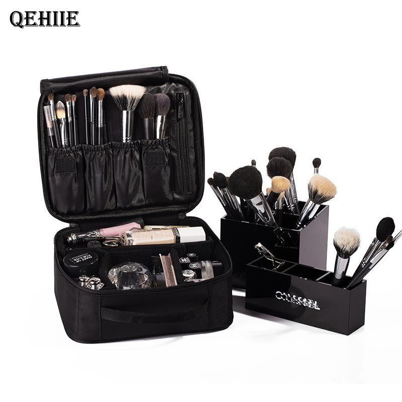 Cosmetic Bag Case High Quality Beautician Waterproof Makeup Bag Travel Organizer Make Up Box Professional Women Make Up Tas